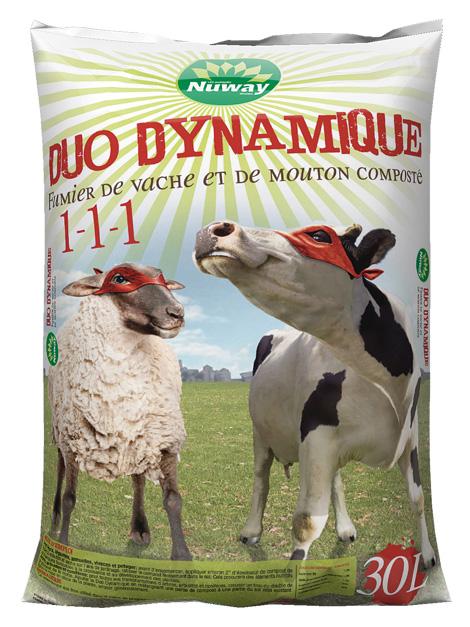 duo dynamique fumier de vache et de mouton nuway. Black Bedroom Furniture Sets. Home Design Ideas
