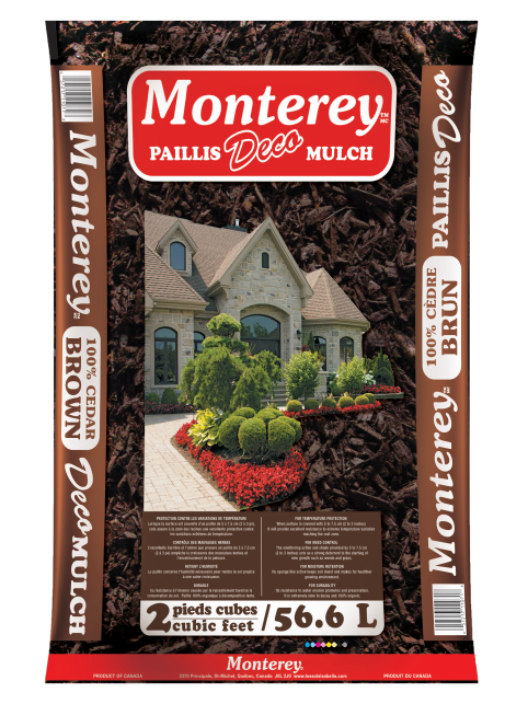 Paillis Monterey brun 2pc 3D allongée