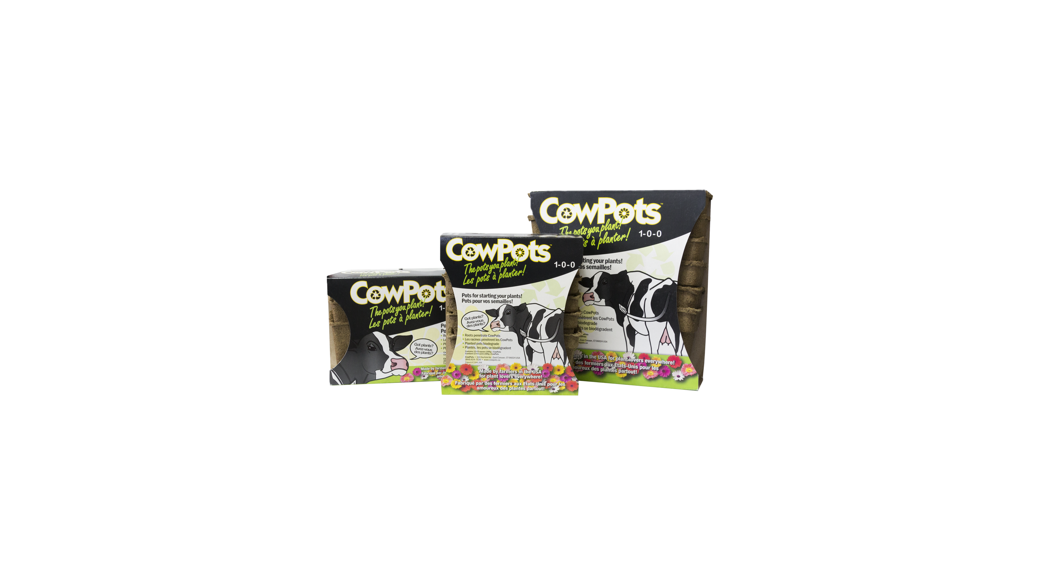 Cowpots the 3 sizes-2